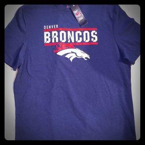 Denver Broncos Athletic Fit Mens Tee Shirt Majesti